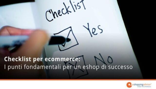 checklist per ecommerce