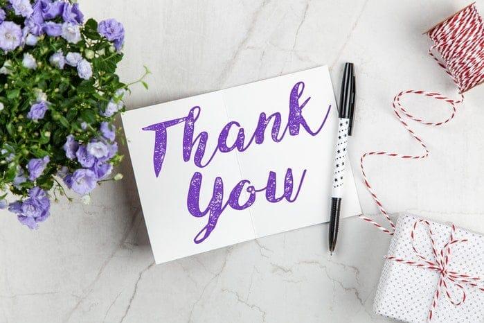 ringraziare i clienti ecommerce con un biglietto scritto