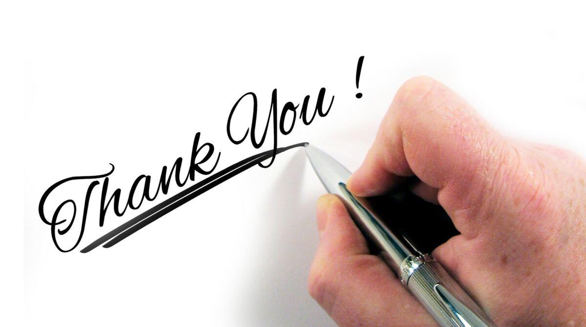 come ringraziare clienti