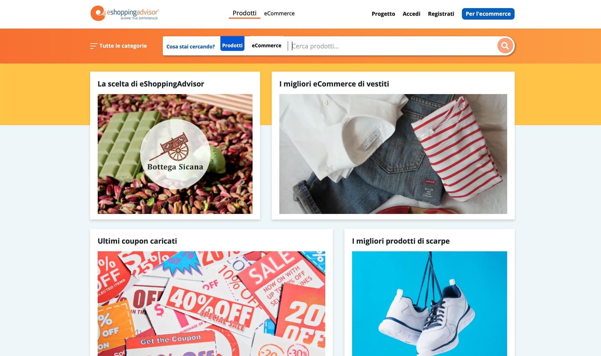 nuova homepage eshoppingadvisor