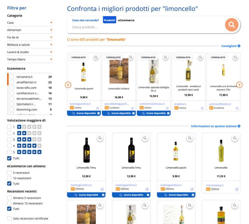 Trova i migliori e-commerce di prodotti italiani